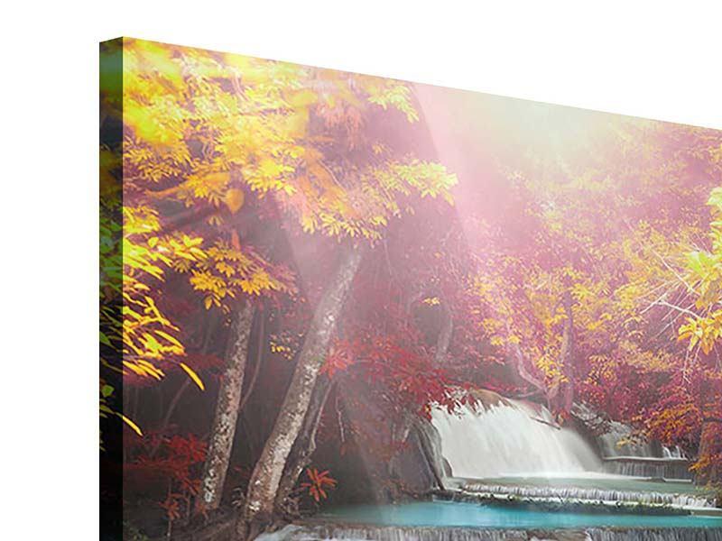 Acrylglasbild Huay Mae Khamin Wasserfall