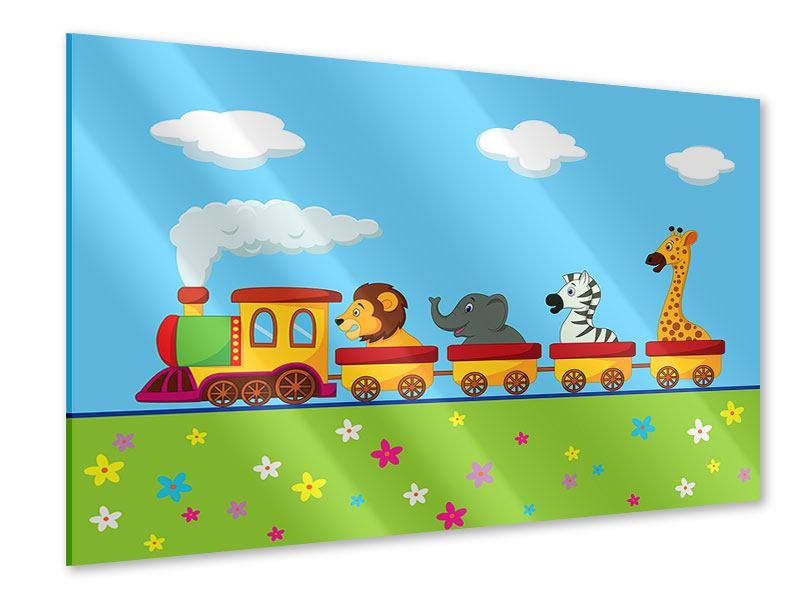 Acrylglasbild Tierische Eisenbahn