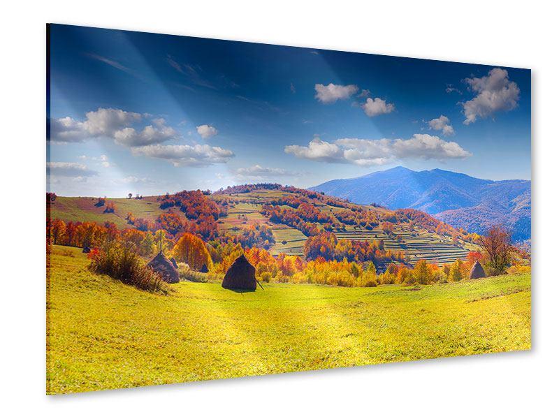 Acrylglasbild Herbstliche Berglandschaft