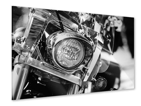 Acrylglasbild Motorrad Close Up