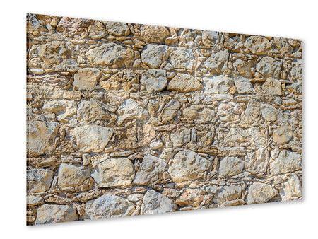 Acrylglasbild Sandsteinmauer
