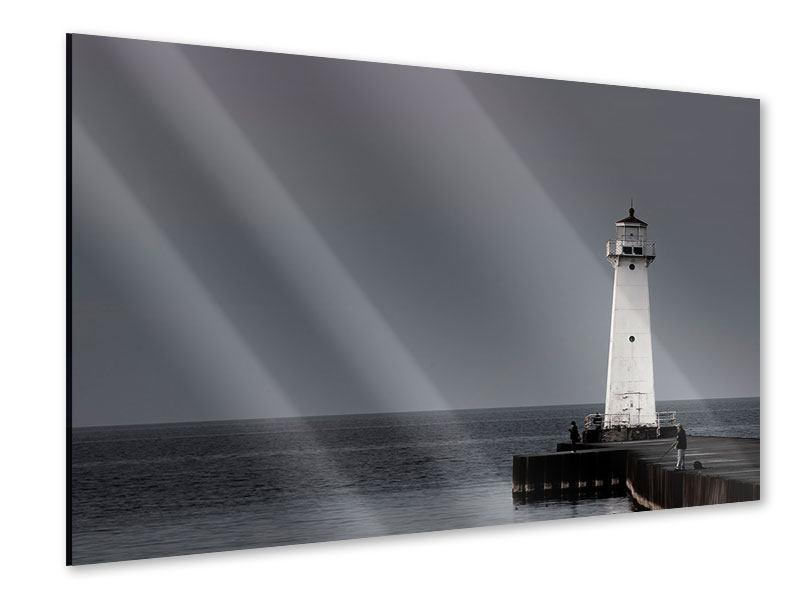 Acrylglasbild Der Leuchtturm bei Nacht