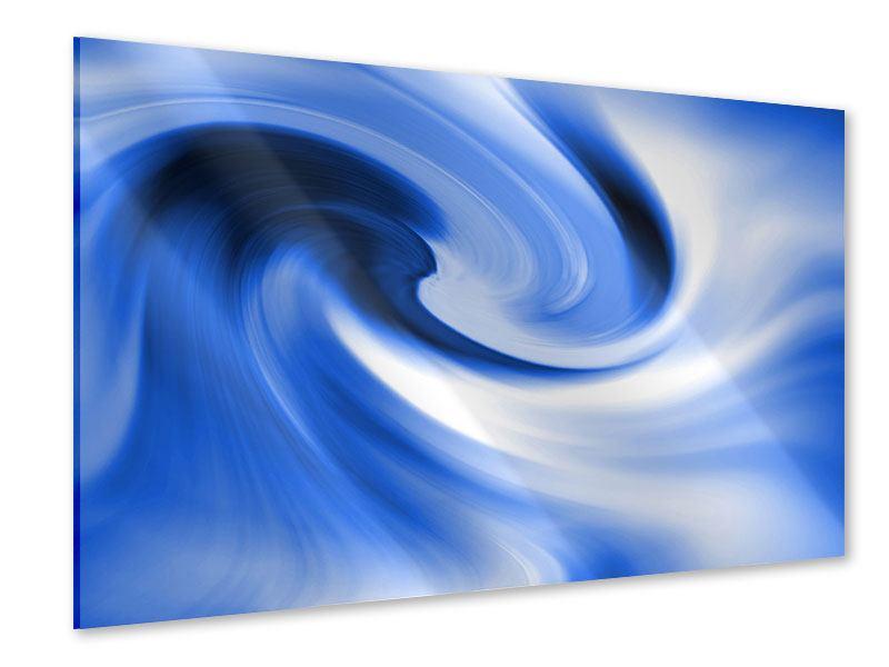 Acrylglasbild Abstrakte blaue Welle
