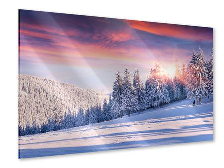 Acrylglasbild Winterlandschaft