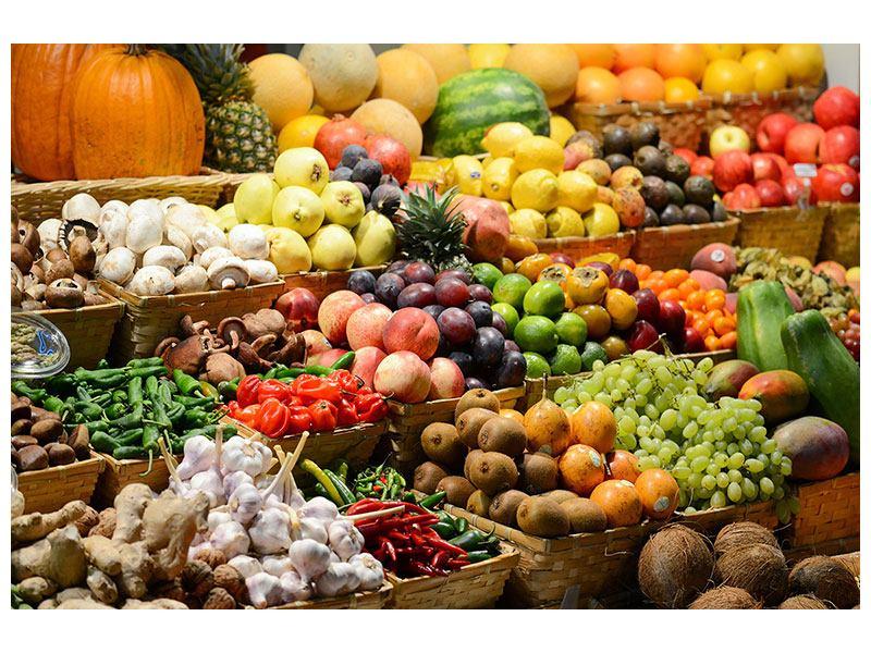 Acrylglasbild Obstmarkt