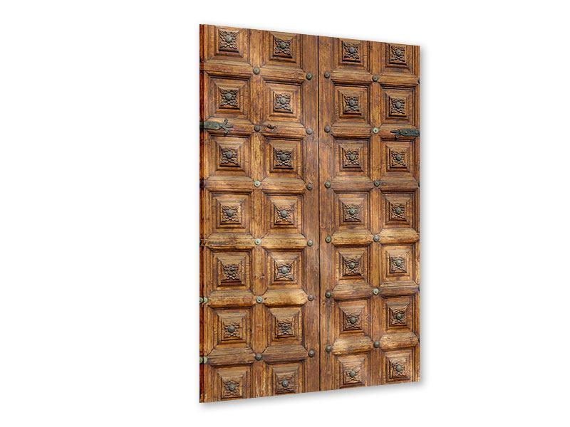 Acrylglasbild Antike Holztür