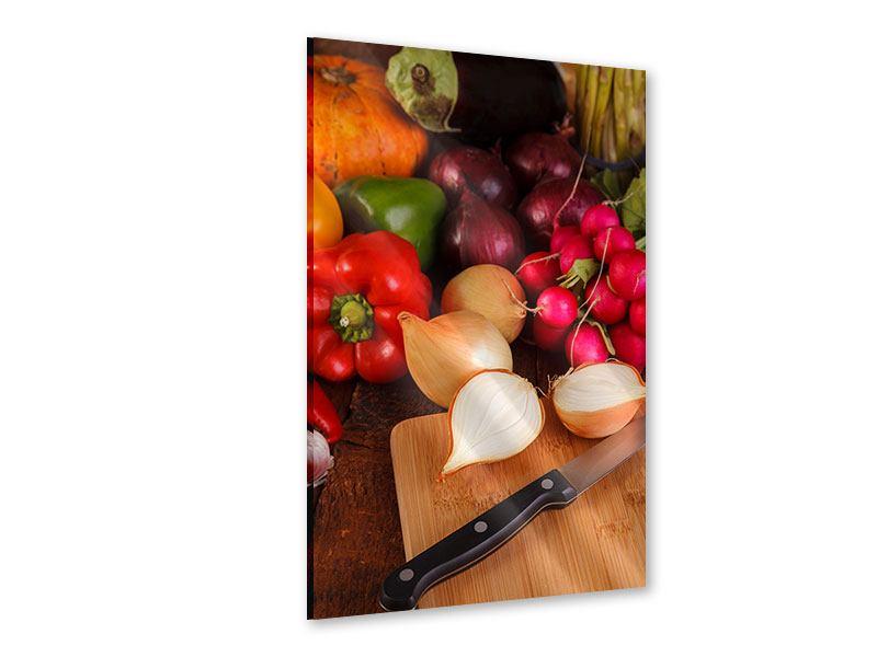 Acrylglasbild Frisches Gemüse