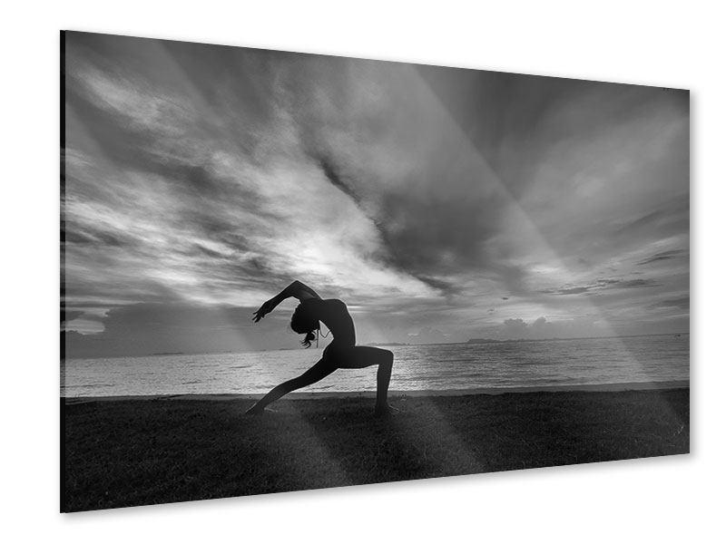 Acrylglasbild Strandyoga