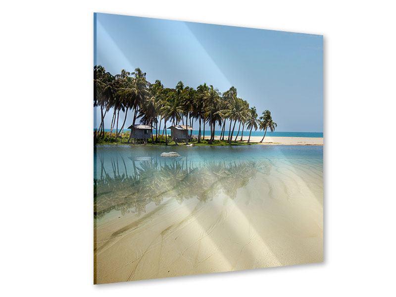 Acrylglasbild Das Meer und die Insel