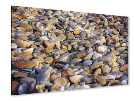 Acrylglasbild Strandsteine