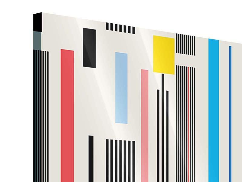 Acrylglasbild Grafische Streifen