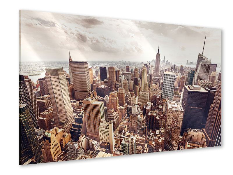 Acrylglasbild Skyline Über den Dächern Manhattans