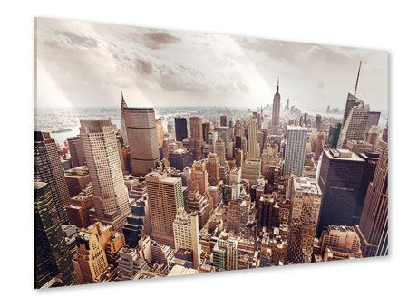 Acrylic Print Skyline Over The Roofs Of Manhattan