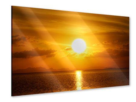 Acrylglasbild Sonnenuntergang See