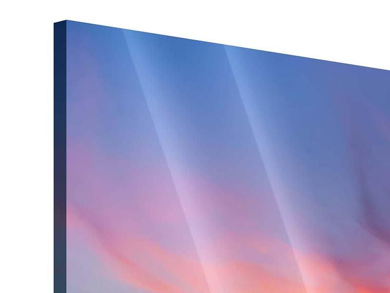 Acrylglasbild Die romantische Brücke bei Sonnenuntergang