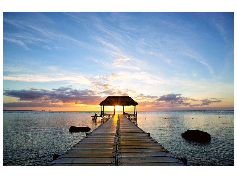 Acrylglasbild Romantik auf Mauritius