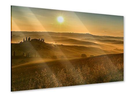 Acrylglasbild Sonnenuntergang im Gebirge