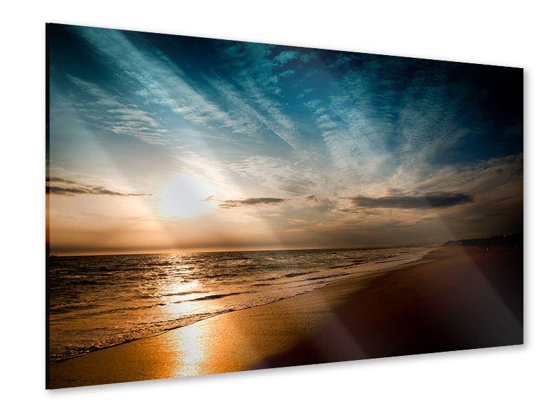 Acrylglasbild Strandspaziergang