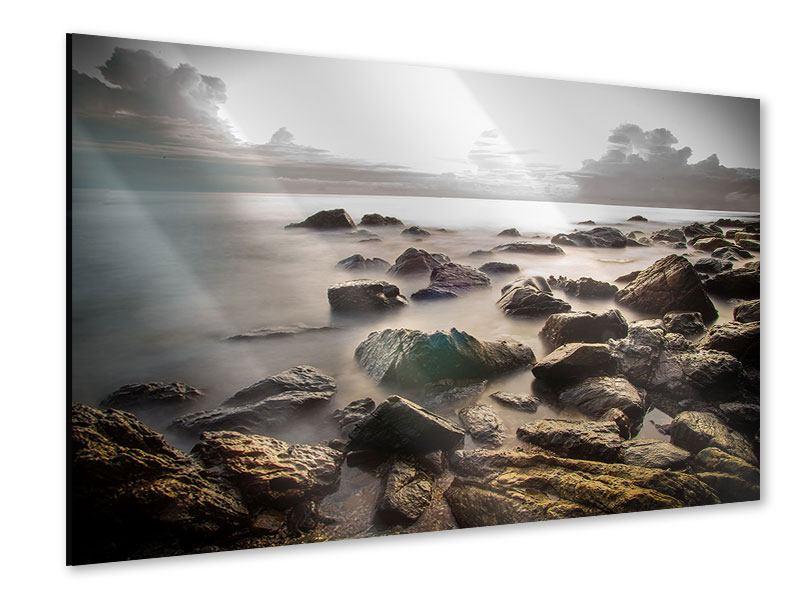 Acrylglasbild Steine am Strand