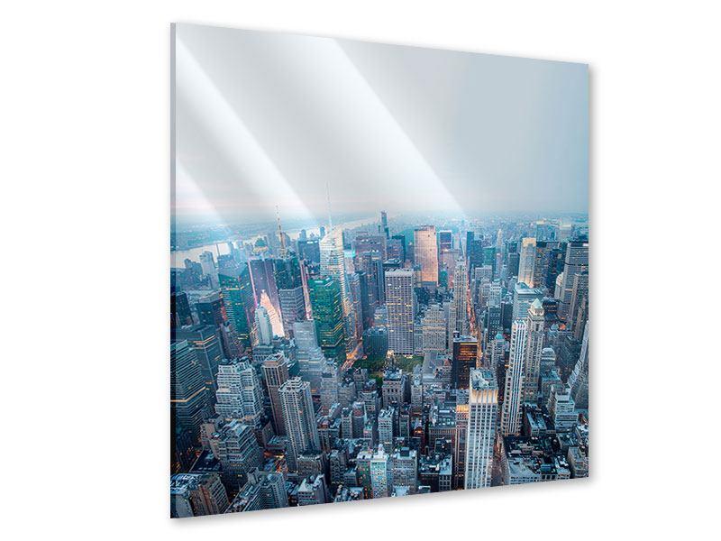 Acrylglasbild Skyline Manhattan in der Abenddämmerung