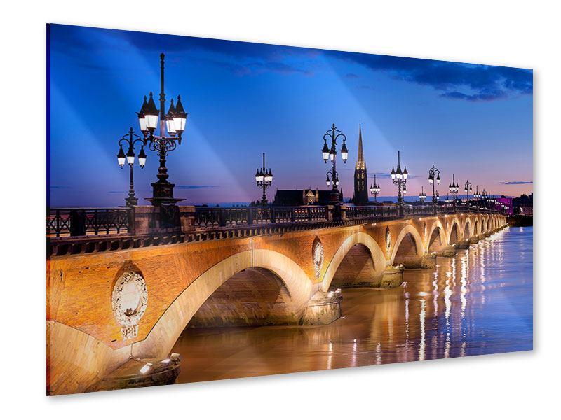 Acrylglasbild Pont De Pierre bei Sonnenuntergang