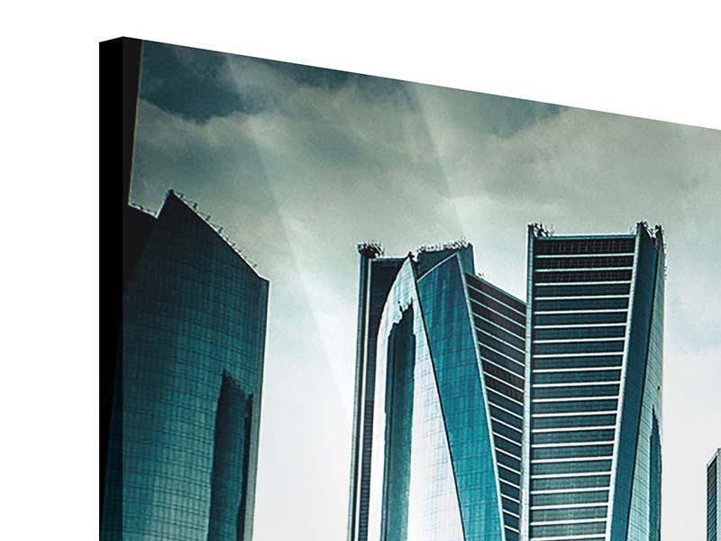 Acrylglasbild Luxus Wolkenkratzer in Abu Dhabi