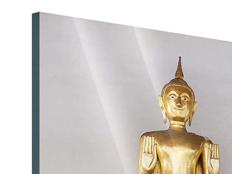 Acrylglasbild Goldener Buddha