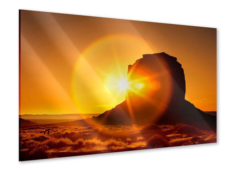 Acrylglasbild Sonnenuntergang Monument Valley