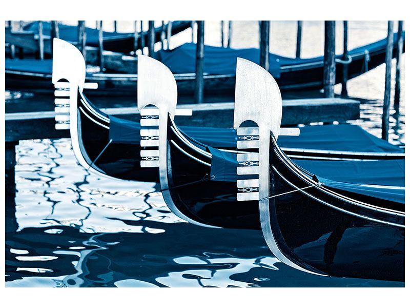 Acrylglasbild Gondeln in Venedig