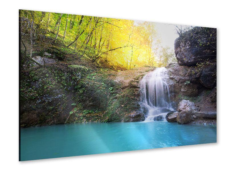 Acrylglasbild Fliessender Wasserfall