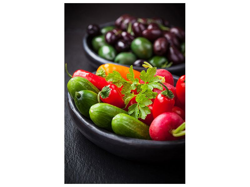 Acrylglasbild Gemüseschale