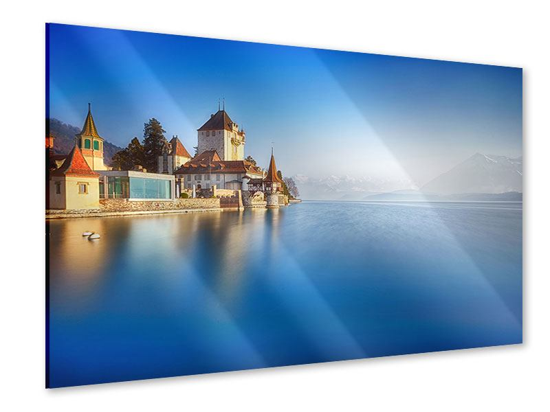 Acrylglasbild Schloss Oberhofen am Thunersee