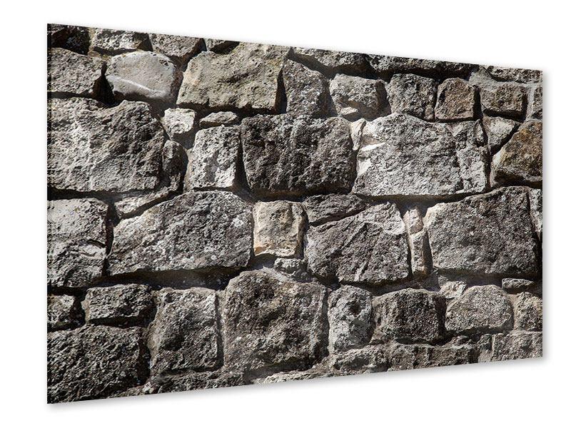 Acrylglasbild Grosses Mauerwerk