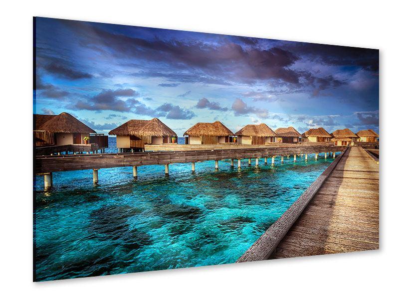 Acrylglasbild Traumhaus im Wasser