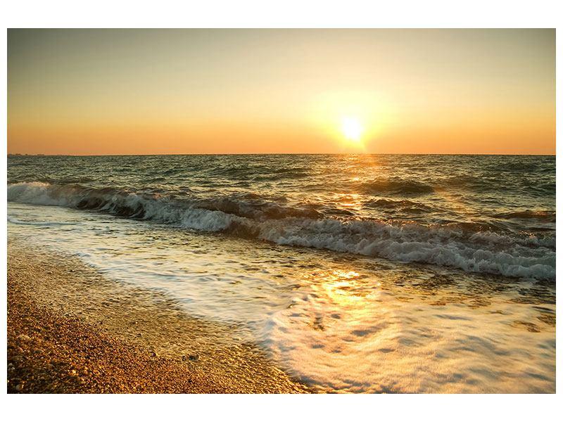 Acrylglasbild Sonnenuntergang am Meer