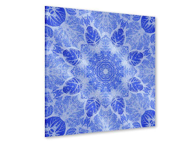 Acrylglasbild Blaues Ornament