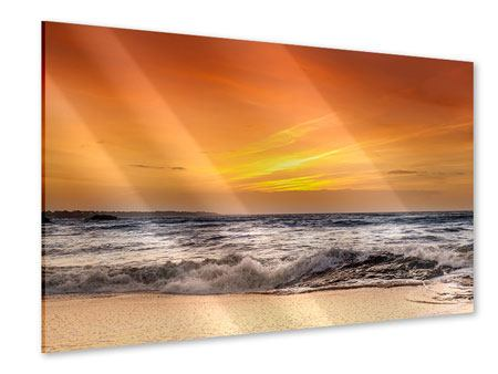 Acrylglasbild See mit Sonnenuntergang
