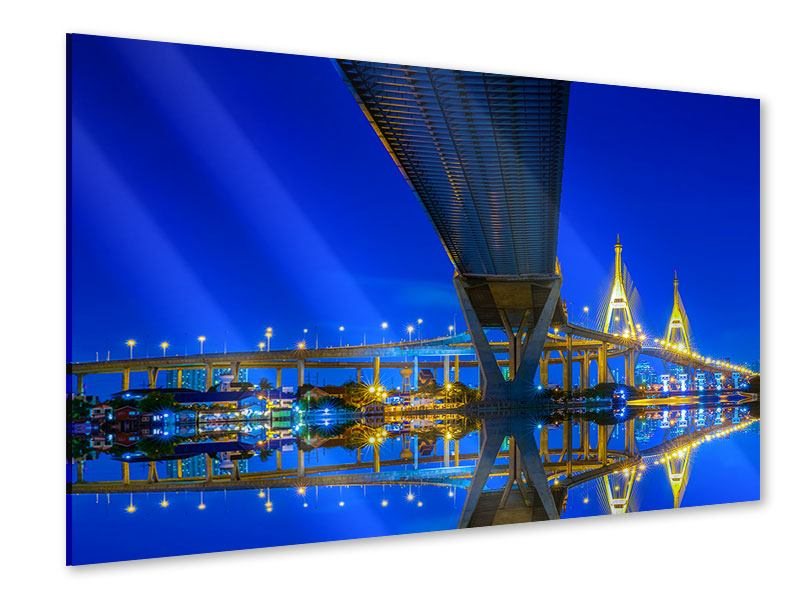 Acrylglasbild Bhumiboll-Brücke