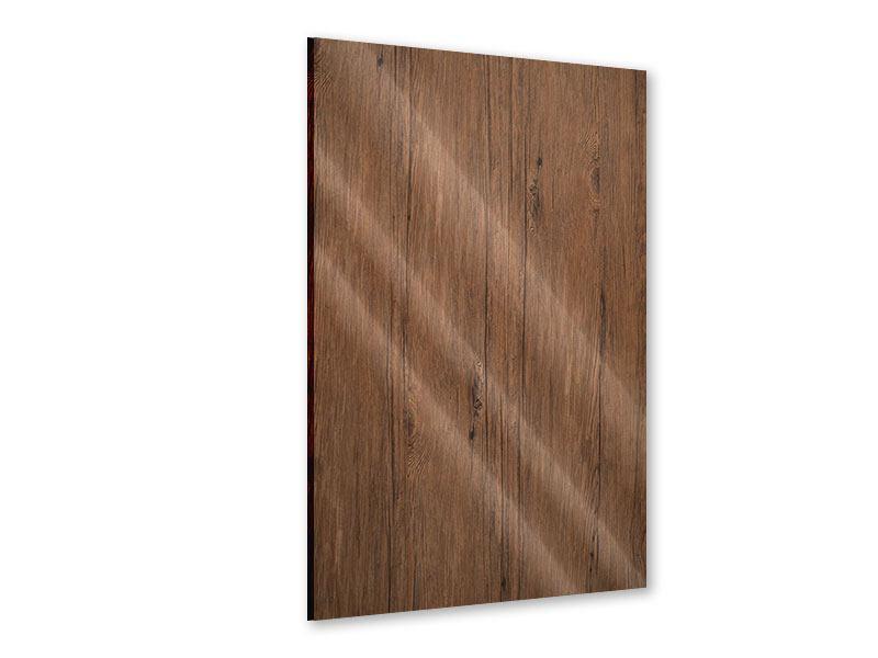 Acrylglasbild Teak-Holz
