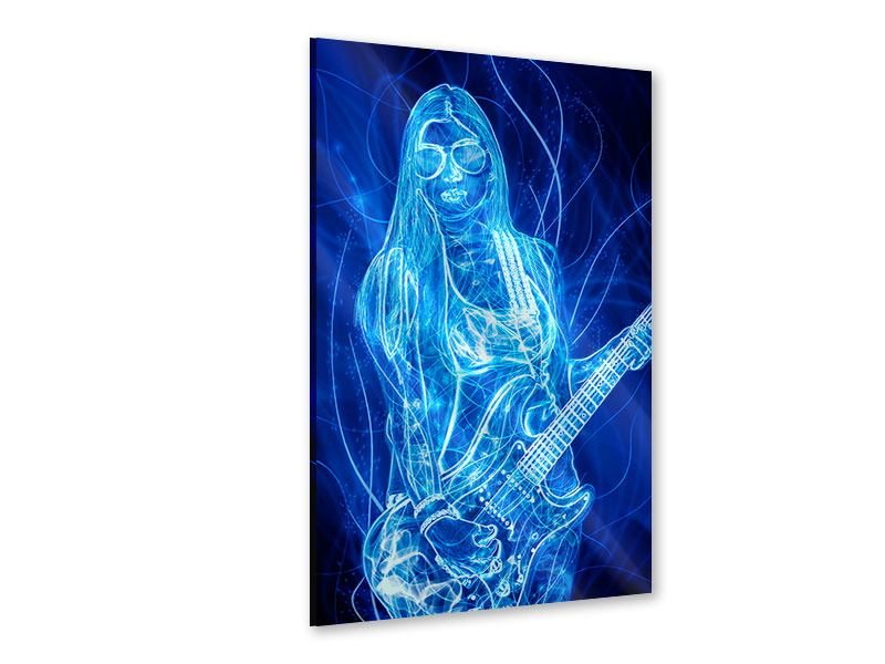 Acrylglasbild Leuchtende Gitarristin