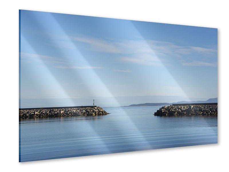 Acrylglasbild Hafenmauern