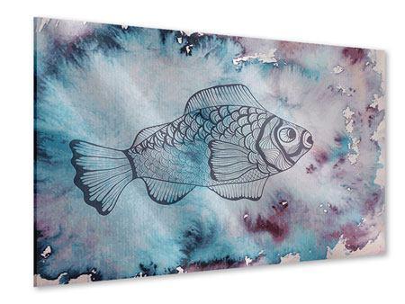 Acrylglasbild Fisch-Aquarell