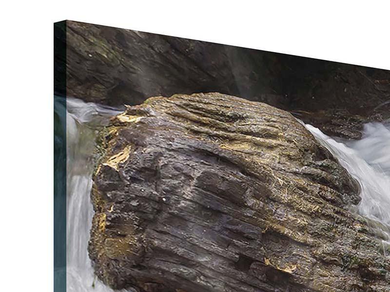 Acrylglasbild 5-teilig Wasserfall XXL
