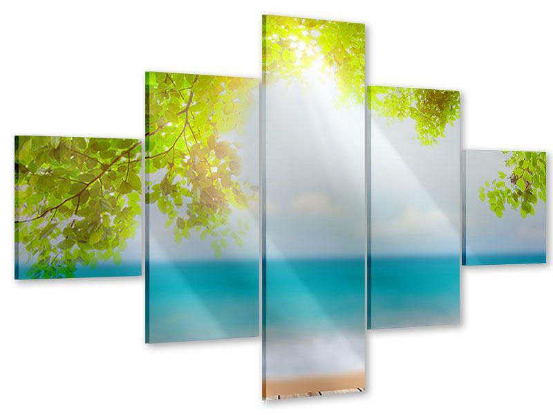 Acrylglasbild 5-teilig Strandterrasse