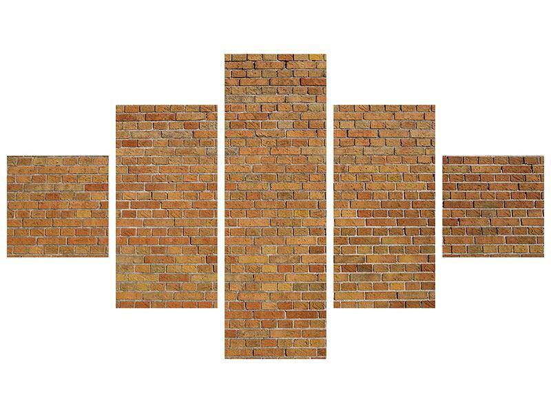 Acrylglasbild 5-teilig Backsteinhintergrund