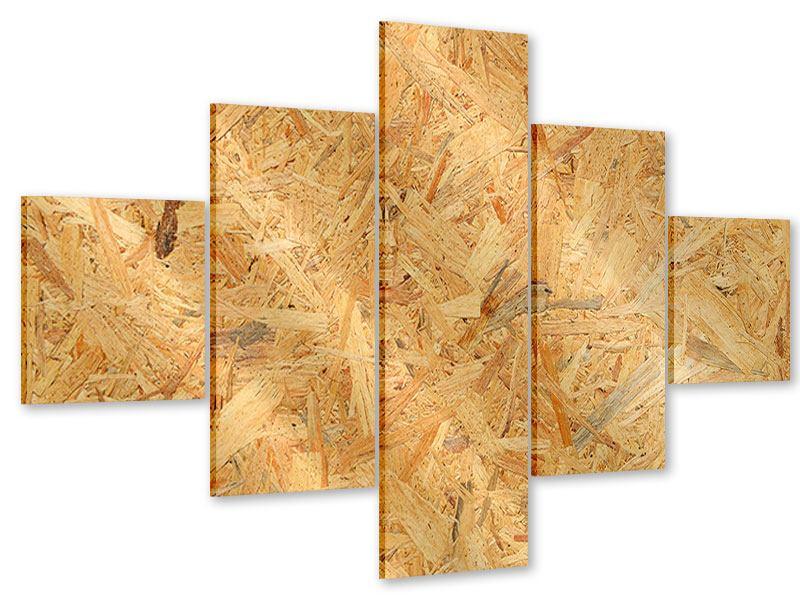 Acrylglasbild 5-teilig Gepresstes Holz