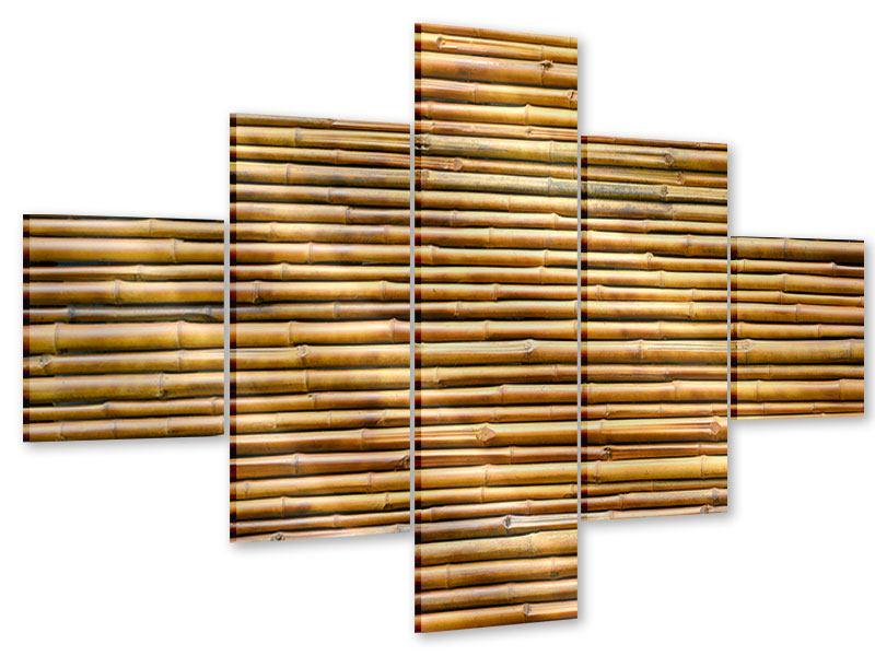Acrylglasbild 5-teilig Bambus