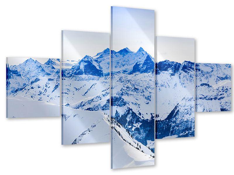 Acrylglasbild 5-teilig Die Schweizer Alpen