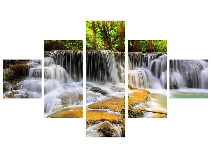 Acrylglasbild 5-teilig Nationalpark Si Nakharin