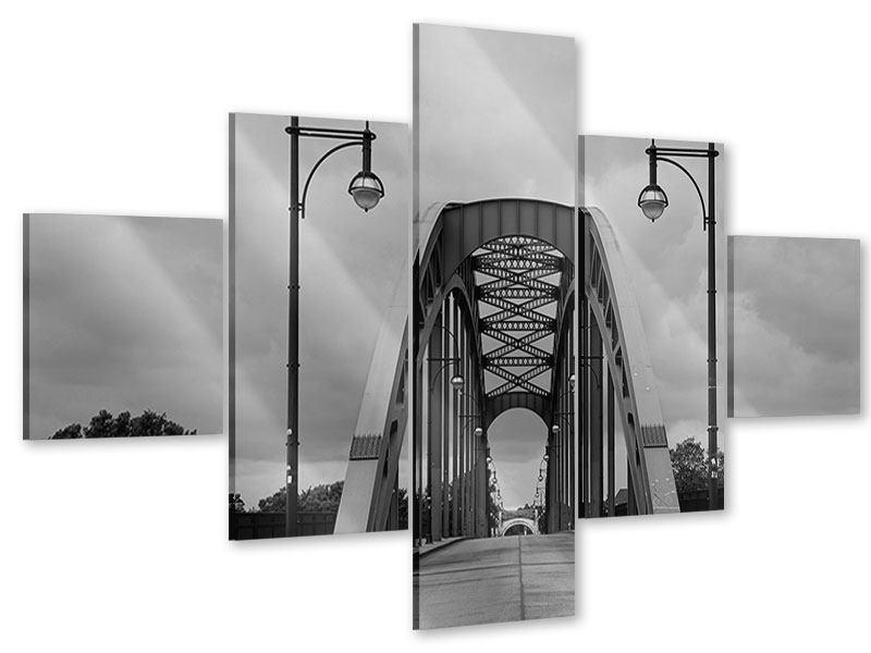 Acrylglasbild 5-teilig Poetische Brücke